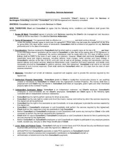 Consulting - Services Agreement