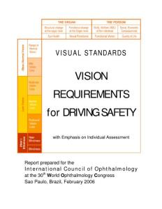 VISION REQUIREMENTS for DRIVING SAFETY