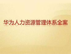 华为人力资源管理体系全案(薪酬、培训、绩效等)