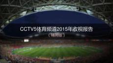2015年年度CCTV5收视盘点