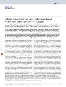 《Nature Structural & Molecular Biology》杂志2016年发表文章
