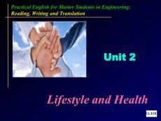 读写译(仓兰菊)unit 2 lifestyle and health