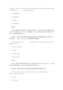 托福(toefl)语法试题及答案详解(3)