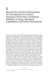 Beyond Neo-Techno-Nationalism An Introduction to China's Emergent Third Way Globalised Adaptive Ecology  Emergent Capabilities and Policy Instruments