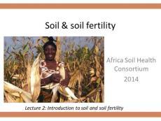Soil Fertility and Soil Fertility Management Practises