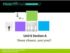 新视野大学英语第三版第二册第六单元ection a课件ppt