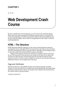 Web Development Crash Course