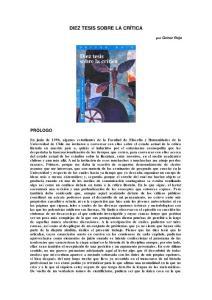 DIEZ TESIS SOBRE LA CR  205;TICA - cyberhumanitatisuchilecl