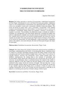 O SIMBOLISMO INCONSCIENTE THE UNCONSCIOUS SYMBOLISM…