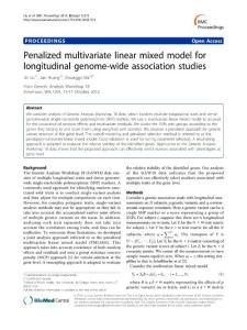 Penalized multivariate linear mixed model for longitudinal…