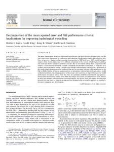 Decomposition of the mean squared error and NSE performance...