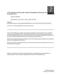 Hamilton 1989 A New Approach To The Economic Analysis Of Nonstationary Time Series & Business Cycles