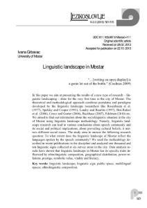 Linguistic landscape in Mostar - SRCE
