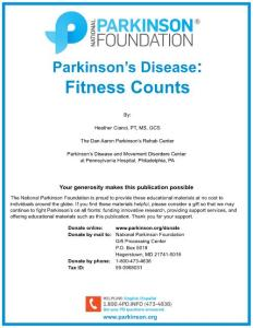 Parkinson´s Disease Fitness Counts - National Parkinson Foundation