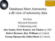 Databases Meet Astronom..