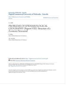 problems of epidemiological geography report viii structure:流行病學地理報告第八章的問題