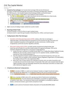 Canadian Securities Course - CSC Notes Exam 1