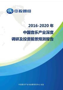 2016-2020年中国音乐产业深度调研及投资前景预测报告
