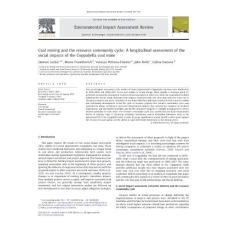 Coal mining and the resource community cycle A longitudinal...
