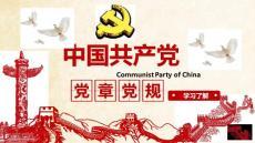 中国共产党党章党规学习解读PPT模板