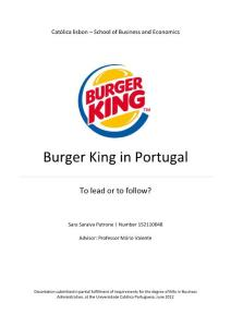 Burger King in Portugal - UCP