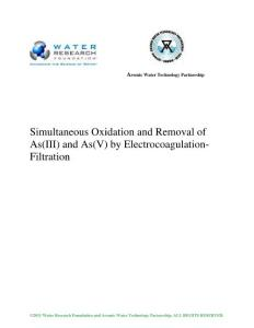 simultaneous oxidation and removal of as(iii) and as(v) by…