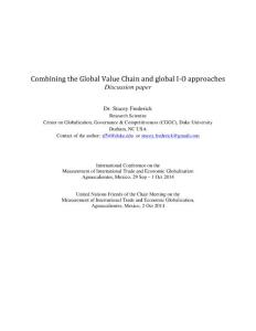 Combining the Global Value Chain and global I-O approaches...