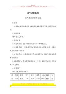 南广电子有限公司仓库进出..