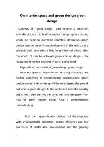 On interior space and green design green design