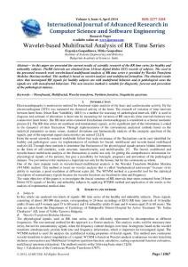 Research Paper Wavelet-based Multifractal Analysis of RR Time...