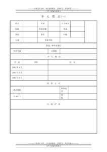 四十种各种经典求职简历模版(实用个人简历范文、实用个人求职信、适用个人简历样式和表格模板)