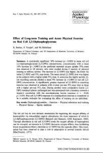 Effect of long-term training and acute physical exercise on red cell 2,3-diphosphoglycerate