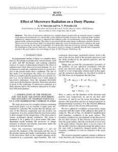 Effect of microwave radiation on a dusty plasma