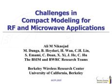 Challenges in Compact Modeling for RF and Microwave…