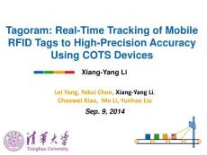 tagoram- real-time tracking of mobile rfid tags to high precision using cots devices