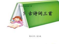 五年级语文下册古诗三首ppt(完美版)