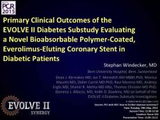 EVOLVE II DM data presented by Dr. Stephan - Boston Scientific