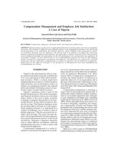 Compensation Management and Employee Job Satisfaction A Case...
