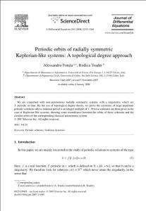 Periodic orbits of radially symmetric Keplerian-like systems...
