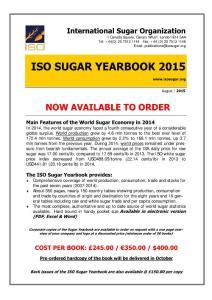 SUGAR YEARBOOK 2015 edition