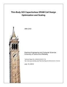 thin-body soi capacitorless dram cell design optimization and scaling(10.76mb)