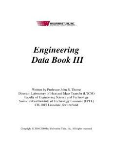 Engineer Data Book III