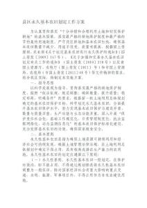 县区永久基本农田划定工作方案