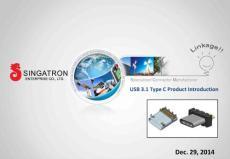 USB 3.1 Type C Product Introduction - Singatron ...