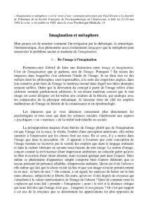 Imagination et m  233;ta..
