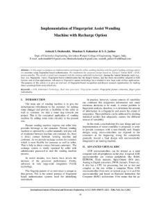Implementation of Finge..