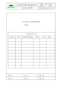 费用预算管理规定ACC-WI-003