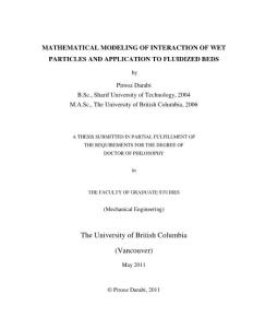 mathematical modeling of..