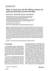 Origin of natural gases and their differences between the eastern and western parts of central Tarim Basin