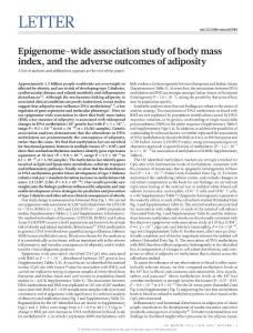 nature20784-Epigenome-wide association study of body mass index, and the adverse outcomes of adiposity